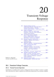Chapter 20. Transient-Voltage Response