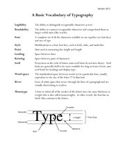 Vocabulary of Typography