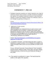 EXPERIMENT 7 – PRE LAB