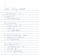 1.8.1 Factoring solutions