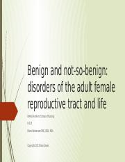 Disorders of the Femal Reproductive Tract-2