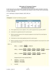 Sample Problems - Principles of Corporate Finance Dec 2015.docx