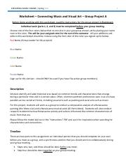 Group Project A - Worksheet - Renaissance Music and Art.pdf