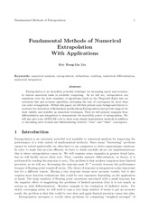 Fundamental Methods of Numerical