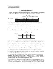 Class 7 Problem Set on Game Theory 1