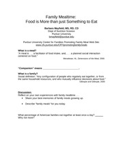 Family Mealtime handout FN 303
