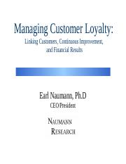 Managing Customer Loyalty YPO Dubai