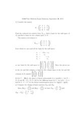 Exam 1 Solution Fall 2013