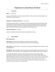Explanatory Synthesis Outline-RosaLawrence