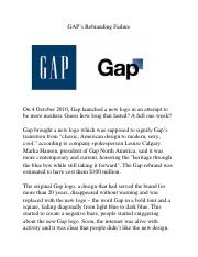 Article 3 - GAP's Rebranding Failure