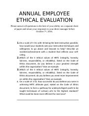 ANNUAL EMPLOYEE ETHICAL EVALUATION.docx