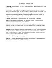 Palsgraf case study