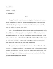 theme essay fences engperesie themeessay  1 pages fences homework