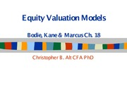 Basic Equity Valuation Models