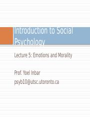 Lecture 5-Emotions and Morality