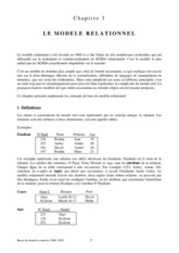 POLY CH03 - Modele Relationnel