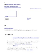 principles of marketing sample test - Google Search