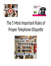 TELEPHONE ETIQUETTE(NEW)