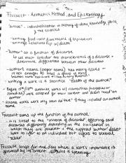 Foucault and Barthes notes