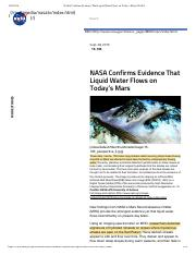 NASA Confirms Evidence That Liquid Water Flows on Today's Mars | NASA.pdf