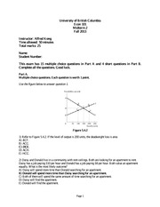 econ101 Sample Midterm 2 with Solutions