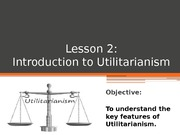 L2 Introduction to Utilitarianism