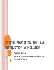 Special Education, the Law, Instruction  &.pptx