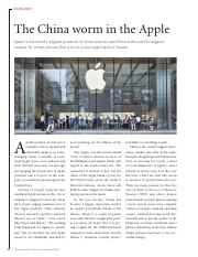 china and apple