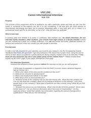 Informational interview assignment