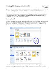Creating ER Diagrams with Visio 2010