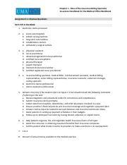 16IHMO_Wk01_Ch01_worksheet_Answerkey.pdf - Chapter 1 Role