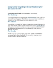 Geographic Targeting in Email Marketing for Education Sector