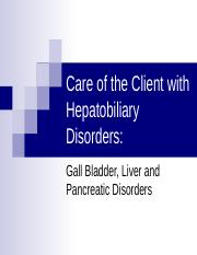 Hepatobiliary Disorders PPT SC.ppt