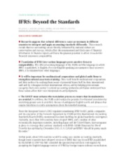 IFRS Beyond the Standards