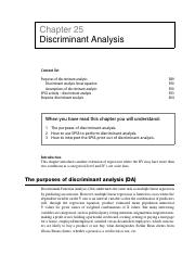 Chapter 25 - Discriminant Analysis
