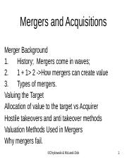Mergers and Acquisitions  F2014.ppt