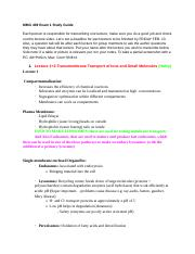 MMG 409 Exam 1 Study Guide.docx