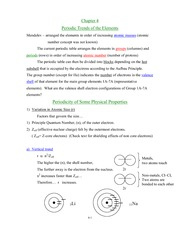 Periodic Properties Notes