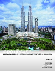 nora sakari a proposed jv in malaysia revised Nora-sakari: a proposed jv in malaysia (revised) case solution, case analysis, case study solution by paul w beamish, r azimah ainuddin is available at a lowest.