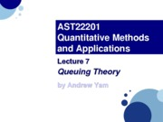 AST22201 - Lec07.Queuing Theory