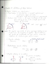 PHY2048 Physics 1, Chapter 9 Rotation of Rigid Bodies Notes