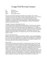 groggs peak brewing company memo Letter: not impressed with bankrupt of breweries crow peak brewing co's canyon cream ale, out of spearfish, is sold locally in mitchell (matt gade.