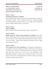 MBA-III-RETAIL MANAGEMENT [14MBAMM302]-NOTES