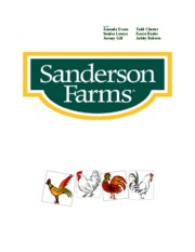 Sanderson Farms Case Study