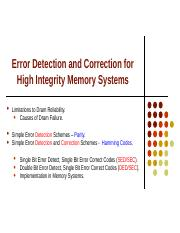 Lecture 15,16 - Error Detecting and Correcting Memory.ppt