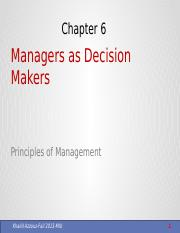 Ch.6 Managers As Decision Makers1.pptx