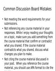Discussion Board Mistakes.pptx