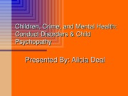 Children, Crime, and Mental Health