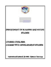 BBM_121_Development_Studies_Module_2
