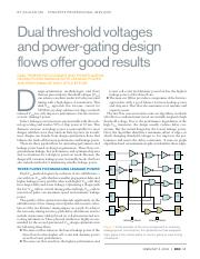 Synopsys Dual Threshold voltages and Power gating design flows.pdf